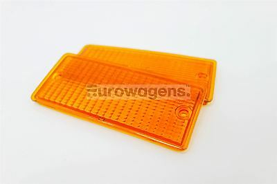 BMW E30 3 Series 83-91 M3 only Orange Front Indicator Repeater Lenses Set Pair
