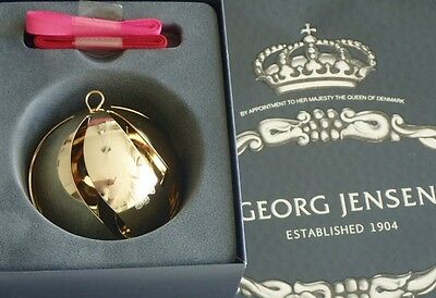 Georg Jensen Christmas 2015 Annual BALL 24 kt Gold Plated-FREE SHIPPING
