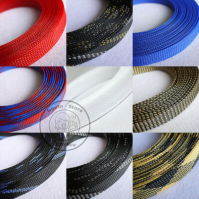 16mm New Tight Braided PET Expandable Sleeving Cable Wire Sheath (15 Color)