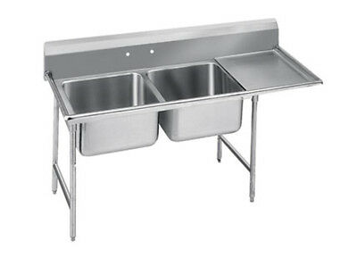 """Advance Tabco Regaline 2-Compartment Stainless Steel Sink-20""""x20"""" Bowls - 9-22-4"""