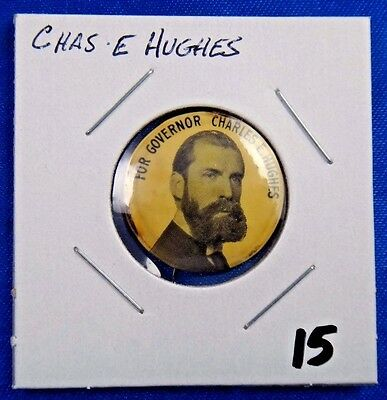 Charles Hughes For Governor Political Campaign Pin Pinback Button Whitehead Hoag