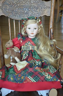 ***rare** CHRISTINA  holiday doll, dolls by pauline, signed