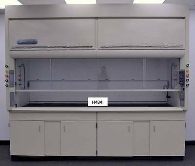 10' Labconco Lab Chemicial Fume Hood  with Base Cabinets & Epoxy Top H434--
