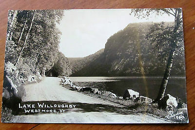 1939 RPPC Lake Willoughby, Westmore VT