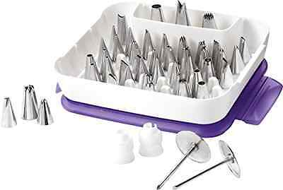 New Wilton 55 piece Master Icing Tip Set Cake Decorating nozzle piping tube box