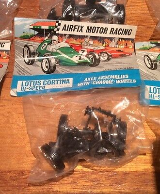 Bagged Airfix Lotus Cortina Hi-Speed Axle Assemblies With Wheels MRRC Slot