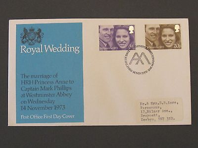 First Day Cover – Royal Wedding 1973