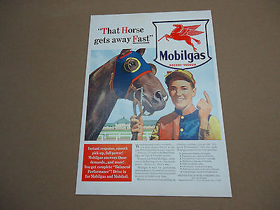 Vintage Mobilgas Mobil Gas Oil Ad Advertising Automotive Transportation