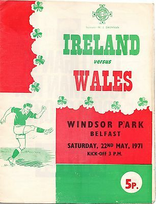 1971 Northern Ireland v Wales (Home International)