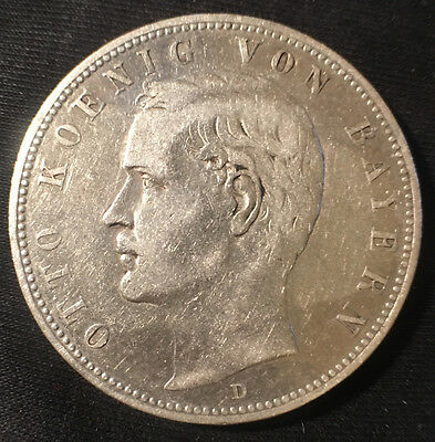 1903-D Germany 5 Mark Silver Coin