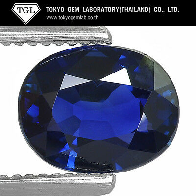 2.02Cts Tgl Lab Certified Natural Blue Sapphire Unheated Rare Gemstone Oval