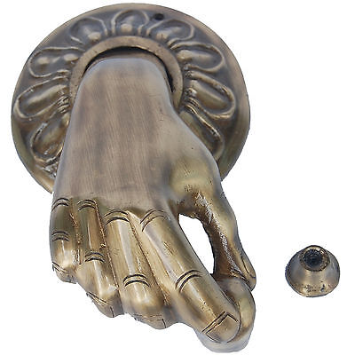 Hand Shape Door Knocker of Brass By Aakrati