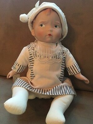Effanbee Baby Grumpy Porcelain Doll- ONLY 2500 MADE! - 1987/88