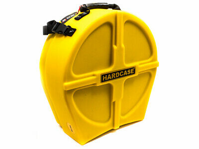 """Hardcase 14"""" Fully Lined Snare Case - Yellow"""