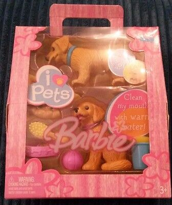 Bnib Barbie I Love Pets Dogs Playset Colour Change With Water Nrfb