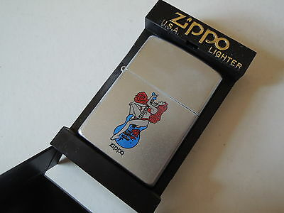 Authentic Zippo Lighter -  Girl with Guitar 205839 - No Inside Guts Insert