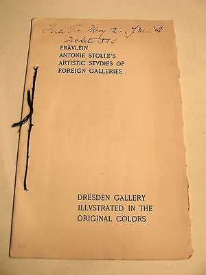 1896 Booklet on Art Exhibition in Boston