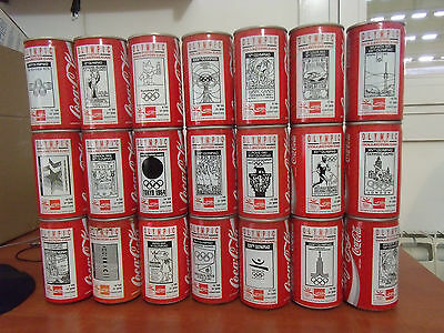 rare coca cola cans israel complete set barcelona 92 olympic games 21/21 hebrew