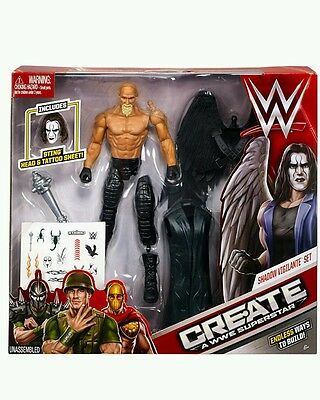 WWE Sting SHADOW VIGILANTE SET Deluxe Create A Superstar Action Figure Masher