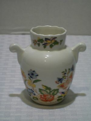 Aynsley Bone China Cottage Garden Bud Vase with Handles Made In England 3 Inches