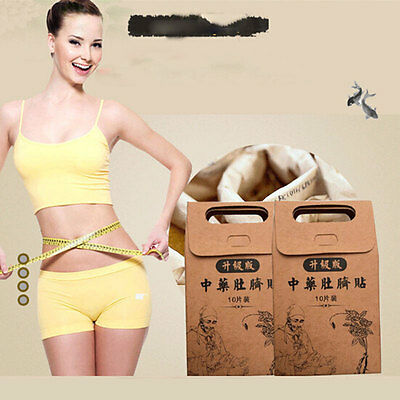 10Pcs/Set Chinese Medicine Weight Loss Slimming Diets Slim Patch Pads Detox
