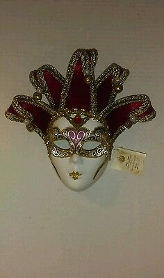 Mardi Gras Female Jester Mask New with tags.