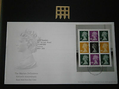 2007 Gb - Machin Def 14Th Anniv- Booklet Pane-Fdc
