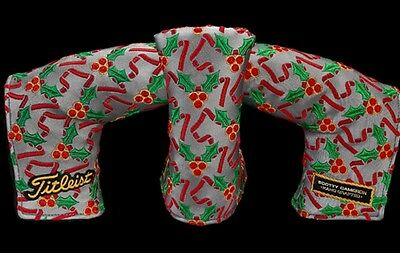 New Scotty Cameron 2016 Holiday Holly Jolly Dog Putter Headcover New In Bag.