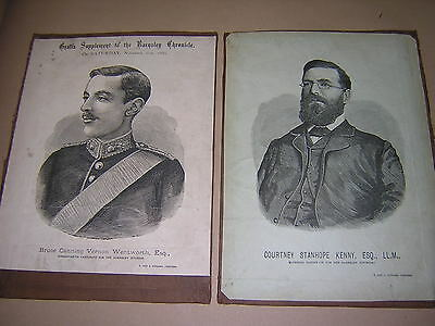 Barnsley. Yorkshire. 1885. Two Original Election Candidate Posters.