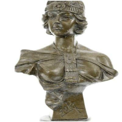 19Th Century Production Victorian Female Bust Pair Bookends Solid Bronze