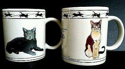 Set of 2 Collectable Cat Mugs
