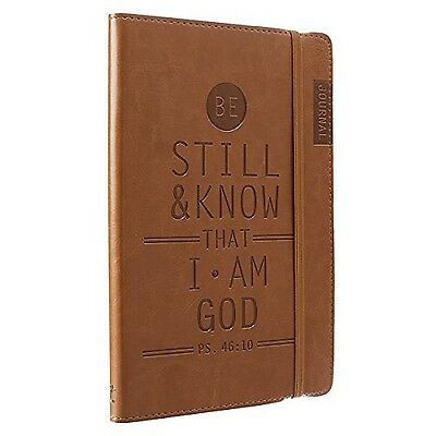 """Tan """"Be Still & Know"""" Flexcover Journal / Notebook - Psalm 46:10"""