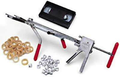 EZE CASTRATOR KIT  T-1 Calves 250lbs and Up Castrator 25 Bands and Clips Video