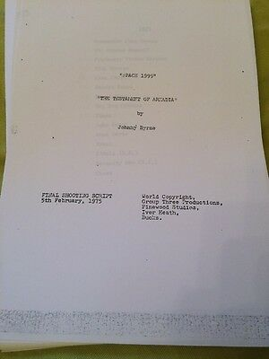 Space 1999 final shooting script 5th February 1975 Testament of Arkadia
