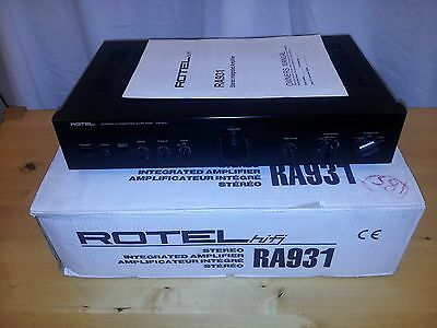 Rotel RA-931 Stereo Integrated Amplifier, VGWO, with owners manual