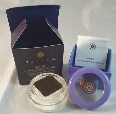 Tatcha Gold Camelia Nourishing Lip Balm 0.28oz NEW IN SEALED CONTAINER