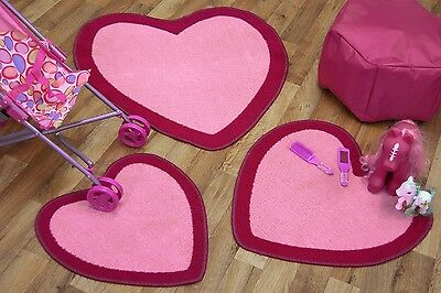 Children's Playmat/Rug, Hearts, Football, (3 Pack) Circle, Washable, Kids, Mat