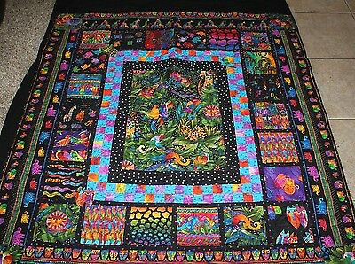Laurel Burch JUNGLE SONGS Handmade Quilt or Wall Hanging 61x54
