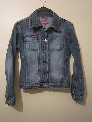 Girls:Ladies Extra Strong Italian Style Denim Jacket By Dockhouse:XL/S:Free P&P