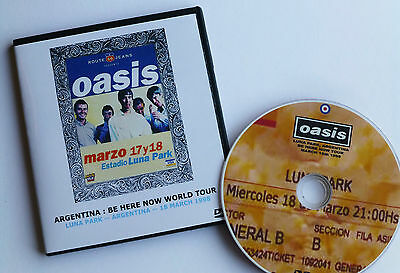 OASIS live at LUNA PARK, ARGENTINA, MARCH 1998 -- BE HERE NOW TOUR -- LIVE DVD