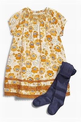 New! Next! Girls set:  dress and tights 5-6 years