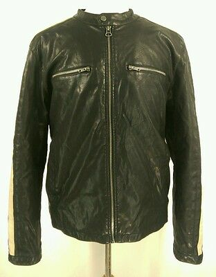 Wilson's Leather G 111 Motorcycle Jacket Men's Size XL Faux Leather