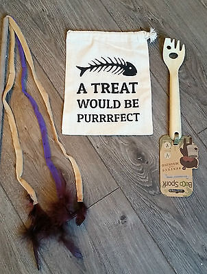 NEW - BECO Spork, Cat Treat Bag & Feathered Cat Teaser Toy
