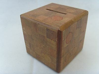 Vintage Japanese Puzzle Dice Money Box 2 moves