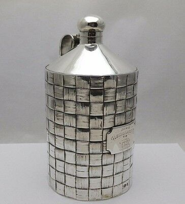 Solid Silver Antique Advertising Glengarry Distillers Whisky Flagon (553-9-KOW)