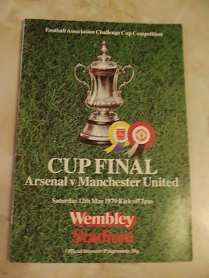 ARSENAL v MANCHESTER UNITED FA CUP FINAL PROGRAMME 1976