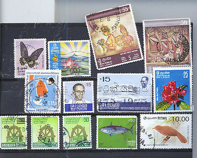 Sri Lanka  Small Collection Of Stamps  2B