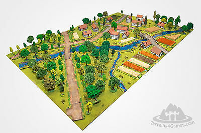 MEGA TERRAIN Set 15mm - 222 items - painted deluxe wargame/historical scenery