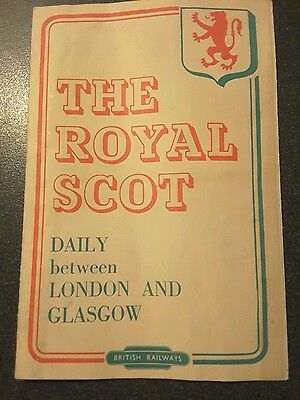 The Royal Scot, London and Glasgow Timetable 1953