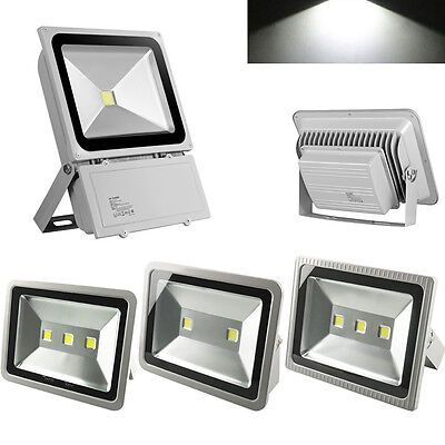 LED Floodlight 100W 150W 200W 300W Outdoor Security Garden Lamp Cool White UK
